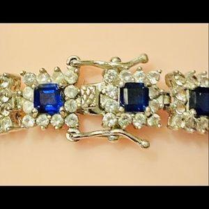 Jewelry - Sapphire & diamond tennis bracelet